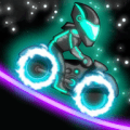 霓虹灯越野摩托车